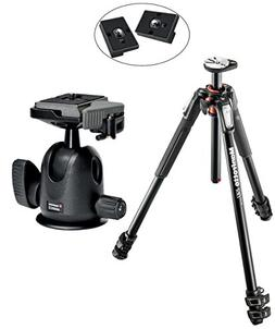 Manfrotto MT190XPRO3 3 Section Aluminum Tripod Kit w/ 496RC2