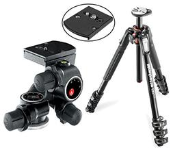 Manfrotto MT190XPRO4 4 Section Aluminum Tripod Kit with 410