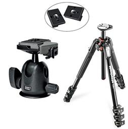 Manfrotto MT190XPRO4 4 Section Aluminum Tripod Kit with 496R