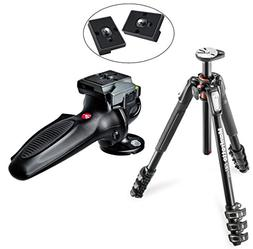 Manfrotto MT190XPRO4 4 Section Aluminum Tripod Kit with 327R