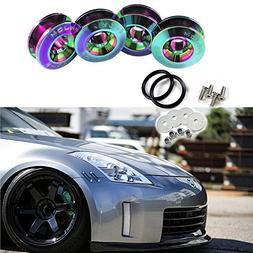 Neo Chrome JDM Quick Release Fasteners For Car Bumpers Trunk