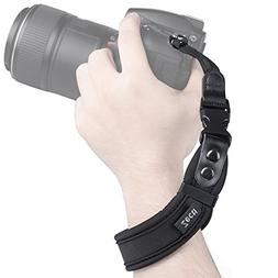 Zecti Neoprene Camera Wrist Strap with Quick Release and Saf