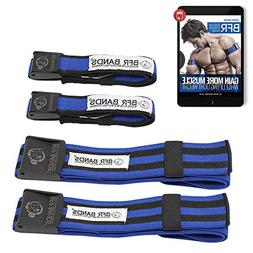 BFR BANDS Occlusion Training Bands, PRO Bundle, 4 Pack for A