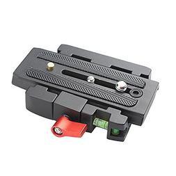 P200 Quick Release Clamp QR Plate Tripod for Manfrotto 500AH