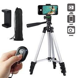 "Paladinz Phone Tripod 42"" Inch Aluminum Lightweight iPhone T"