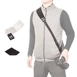 Photo Rapid Fire Camera Neck Strap w/ Quick Release and Safe