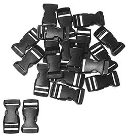 "Penta Angel 3/4"" Plastic Buckle Clips Flat Side Black Adjust"