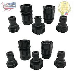 Plastic Garden Hose Connector Set Male and Female - Quick Re
