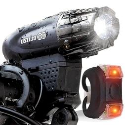 POWERFUL LED Bike Light Front Rear Mount Bicycle Headlight F