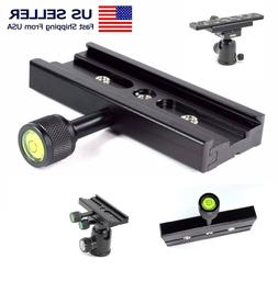 """QR-120 Clamp Adapter Quick Release Plate 1/4"""" 3/8"""" Tripod 12"""