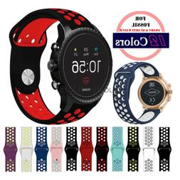 Quick Release 20mm 22mm Silicone Sport Watch Strap for Fossi