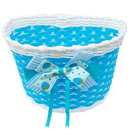 Fcoson Quick Release Bike Bicycle Basket for Girls Kids Blue