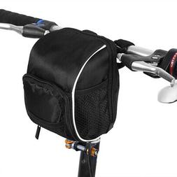 Quick Release Bike Handlebar Bag Front Frame Tube Pouch Hold