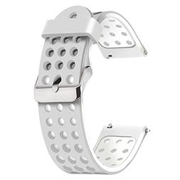 Moretek 18mm Quick Release Breathable Band, Silicone Replace