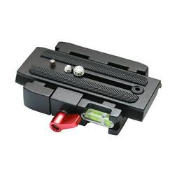 Quick Release Clamp Adapter + QR Plate P200 for Manfrotto 50