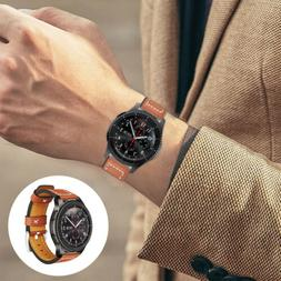 Quick Release Leather Brown Watchband Strap for Samsung Gear