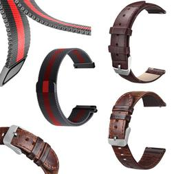 Quick Release Pin Milanese Loop Watch Band Retro Leather Wri