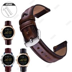 Quick Release pins Leather Wristwatch Band Watch Strap Brace