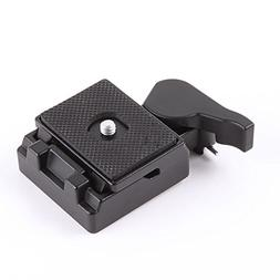 FocusFoto Quick Release Plate with Clamp Adapter for Manfrot