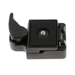 Quick Release Plate Clamp Adapter for Tripod Monopod Ball He
