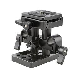 CAMVATE Quick Release Plate with 15mm Rail Riser Support Sys