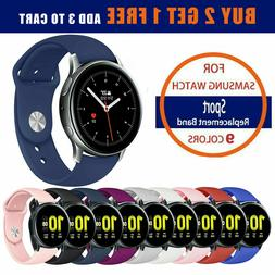 Quick Release Silicone Sport Watch Strap for Samsung Galaxy