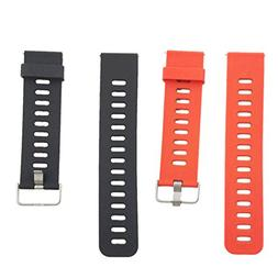 MagiDeal 2 Pack Quick Release Silicone Watch Bands, Soft Rub