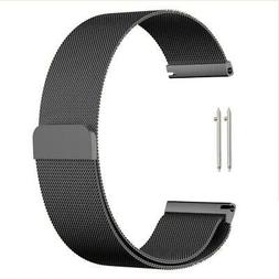QUICK RELEASE STAINLESS STEEL BLACK MELANESE LOOP WATCH BAND