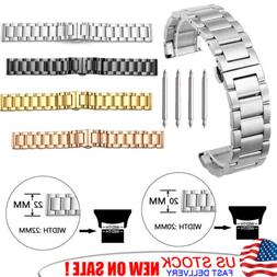 Quick Release Stainless Steel Link Bracelet Watch Band Strap