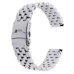 MagiDeal Quick Release Stainless Steel Link Bracelet Watch B