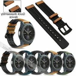 Quick Release Universal Genuine Leather & Silicone Watch Ban