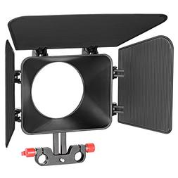 Neewer Plastic 15 mm Rail Rods Matte Box for Canon Nikon Son
