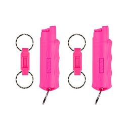 SABRE Red Pepper Spray 2-Pack—Police Strength—Pink Case