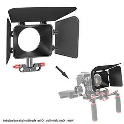Neewer Red Plastic 15mm Rail Rods Matte Box for Canon Nikon