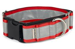 """If It Barks 1.5"""" Reflective Martingale Collar with Quick Sna"""