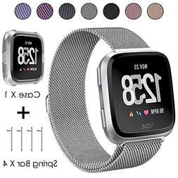 CAVN Replacement Fitbit Versa Bands for Women Men Small Larg
