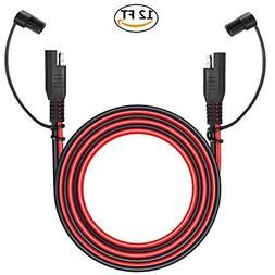 12V Sae to Sae 2 Pin Power Connector Plug,12 Foot Quick Disc