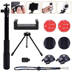Selfie Solution Kit with Tripod Stand&Adhesive Quick Release