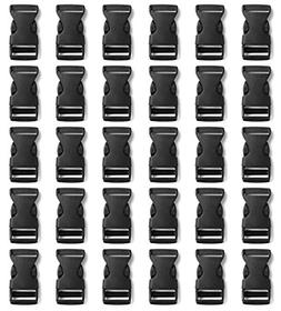 "Tayeel 30 Pack 0.75"" Side Quick Release Plastic Buckles Blac"