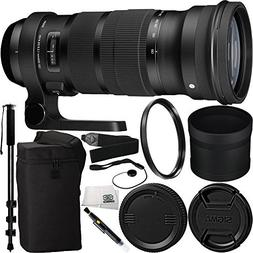 Sigma 120-300mm f/2.8 DG OS HSM Lens for Nikon Bundle Includ