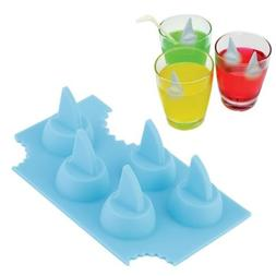 Alicenter Silicone Blue Shark Fin Ice Tray Cube Freeze Maker
