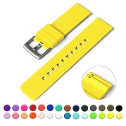 GadgetWraps 20mm Silicone Watch Strap/Band with Quick Releas