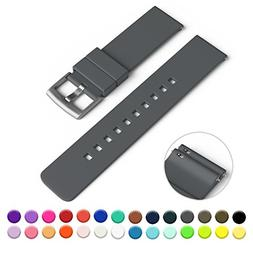 GadgetWraps 22mm Silicone Watch Strap/Band with Quick Releas