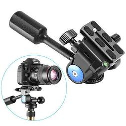 "Neewer Camera Tripod Handle Ball Head with 1/4"" QR Plate,3-D"