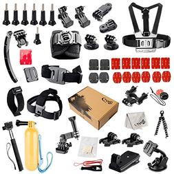 SNT Sports Camera Accessories Kit for GoPro HERO Black Silve
