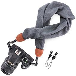 Wolven Soft Scarf Camera Neck Shoulder Strap Belt Compatible