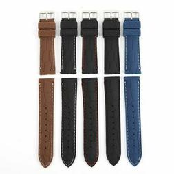 Straps Silicone Rubber Mens Waterproof Diver Watch Band Soft