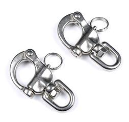 Mxeol Swivel Eye Snap Shackle Quick Release Bail Rigging Sai
