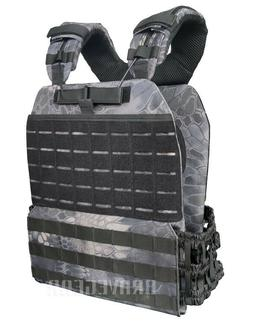 Tactical Adjustable Weight Vest Plate Carrier Molle Fast Qui