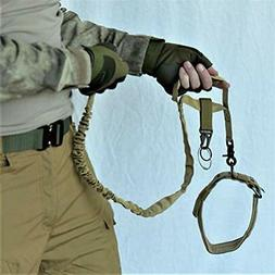 Tactical Basic Leashes Dog Tan  Quick Release + Adjustable C